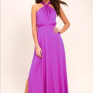 Lulus Ever After purple maxi dress
